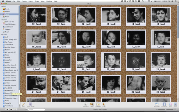 Faces in iPhoto